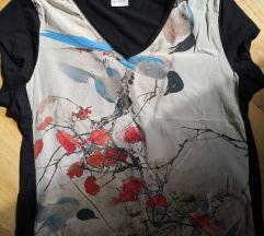 Majica od prave svile i viskoze