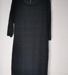 Crna čipkasta koktel haljina