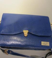 luxe bags torba ručni rad nova plava royal