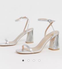 Asos silver glamur sandale