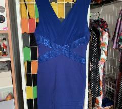 Plava svecana haljina - nova nosena jednom