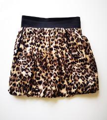 Nova pamučna suknja tigrastog uzorka