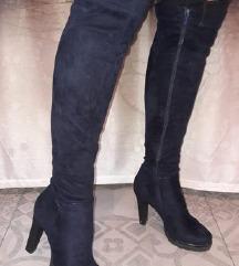 CCC Čizme do koljena,tamno plave