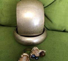 Dvije narukvice i prsten novo