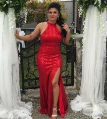 Svečana crvena haljina