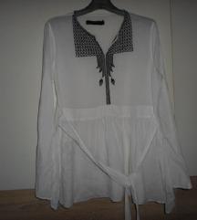 ZARA bijela boho bluza vel.XL
