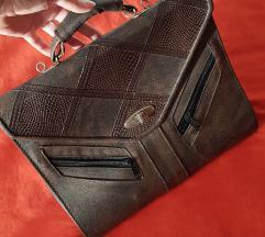 Retro vintage torba od prave kože