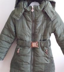 Maslinasto zelena jakna s kapuljačom 116/122
