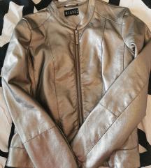Kožna jakna bakrena
