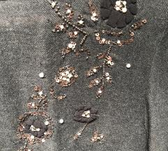 Zara nova siva haljina s detaljima