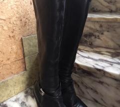 Čizme od prave kože s višom petom