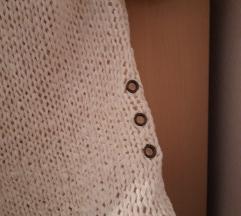Pletena bijela ljetna majica XS/S