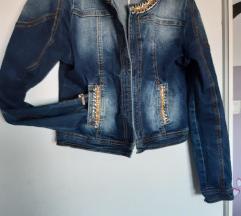 Jeans unikatna  kratka jaknica S- M