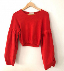 %Zara knit crop majica