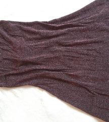 Bordo haljina sa šljokicama
