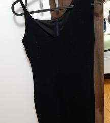 Crna svjetlucava haljina
