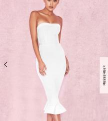 House of cb predivna bijela haljina uz tijelo:)