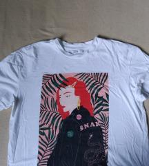 Cropp bijela majica s printom