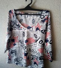majica s printom-kao nova