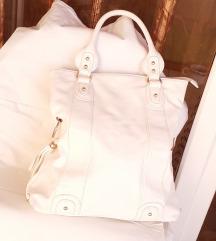 Bijela retro torba