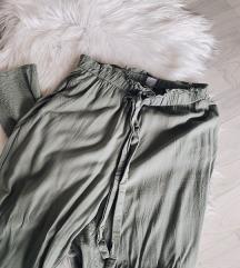 H&m maslinaste duge ljetne hlače