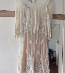 Zara cipkasta haljina xs