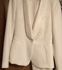 Zara bijelo odijelo S/XS