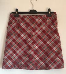 Karo mini suknja