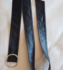 crni remen od umjetne kože