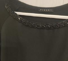 Sisley crna bluza sa crnim perlicama