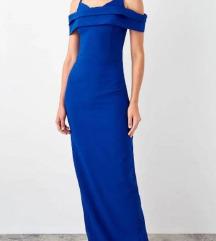Duga večernja haljina plave boje