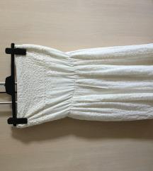 Zara mini haljina bez naramenica