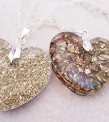 Ogrlice srce s kamenčićima