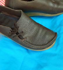 Čokoladno-smeđe cipele PRAVA KOŽA