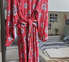 Crvena unikat haljina od viskoze%