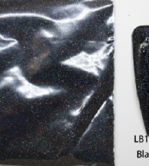 Crni gliter za nokte, 10 gr