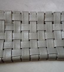 Pletena siva pismo torba
