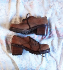 Retro grunge kožne cipele