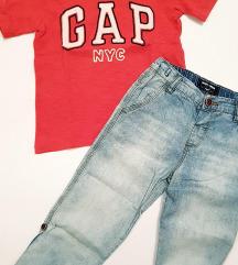 Next hlače+ Gap majica vel. 104 ( 3-4 god)