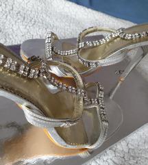 Talijanske srebrne sandale 36/37