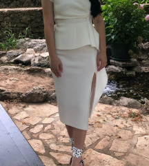 Asos svečana bijela midi haljina