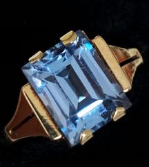 antikni / vintage prsten 14K zlato i spinel