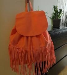 Tezenis narančasti ruksak sa resicama