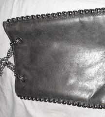 Besprijekorna srebrena Zara torba