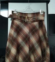 VILA Zimska suknja do koljena