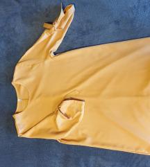Žuta haljina poludugih rukava