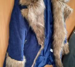 Plava zimska jakna sa debelim krznom AKCIJA%%%