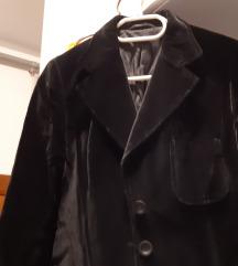 Ženski komplet kostim od baršun crni br 40