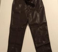 Smeđe nenošene kožne hlače s etiketom NOVO HIT