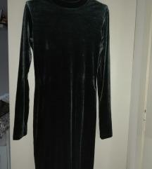 Bershka haljina, tamnozelena